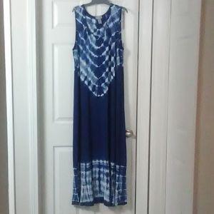Catherines tye dye long dress